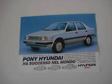 advertising Pubblicità 1987 HYUNDAI PONY