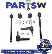 6 Pc Kit Inner Outer Tie Rod Ends Ball Joints For Pt Cruiser 3 Yr Warranty