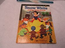 "Snow White and the Seven Dwarfs WALT DISNEY's 1975 9.5"" x 12.5"" A Golden Book"