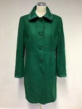BODEN EMERALD GREEN WOOL BLEND KNEE LENGTH COAT SIZE 16R