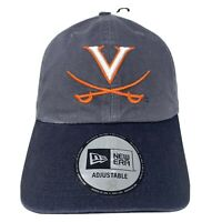 New Era VIRGINIA CAVALIERS Adjustable Gray Black Strapback Hat Cap NWT