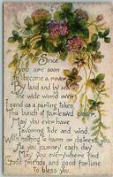 Vintage Early 1900's L.F. Pease Divided Back Greetings Postcard UNUSED