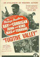 1943 Cowboy Commandos Ray Corrigan Cult Western movie poster print