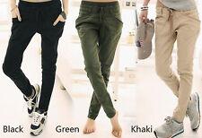 Pantaloni in cotone taglia S Beige - Nero - Verde
