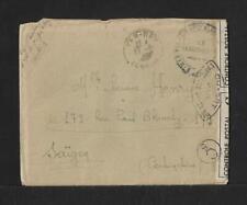 CHINA TONKIN TO SAIGON MILITARY COVER 1917