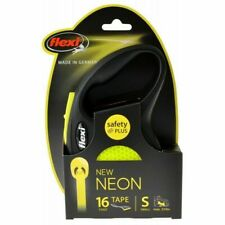 Flexi New Neon Retractable Tape Leash Small - 16' Tape