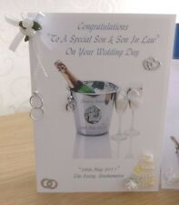 HANDMADE PERSONALISED CHAMPAGNE BUCKET GAY/CIVIL/WEDDING MARRIAGE CARD