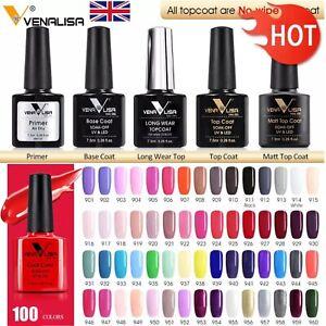 Nail Gel Polish 100 Colours Primer Top Base UV LED Cat Eye One Step Venalisa