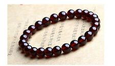 Feng Shui Natural Garnet Beads Stretch Bracelet Good Luck & Wealth New