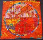 foulard Carré Hermes en soie EX LIBRIS EN KIMONO silk scarf grail