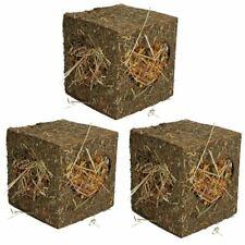 Three Small Animals Guinea Pigs Rabbits Boredom Breaker Medium Hay Cubes