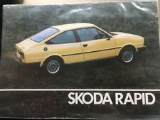 Car Brochure - 1983 Skoda Rapid - UK
