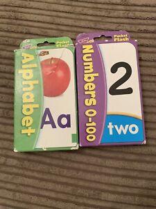 Childrens Pocket Alphabet/number Flash Cards
