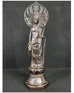 Japanese Old Buddha Guanyin Statue / 高村光雲 Koun Takamura /  W 12 ×H 39[cm]  1.8kg