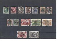 Allenstein, 1920 Michelnummern: 15 - 28 o, gestempelt o, Katalogwert € 85,00