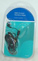 NEW Cox Universal Wired Mono Headset 2.5mm Jack Ear Buds headphones cell phone