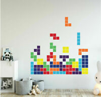 Tetris Game Wall Decal Removable Kids Home Nursery Stickers Vinyl Art Decor Gift
