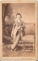 Georg Knittel CDV photo Feiner Junge - Essegg 1878