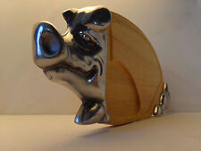 Cochon planche à découper bois & alu, animal, Porc, ferme,  2,100 kg. 57 x 27 cm