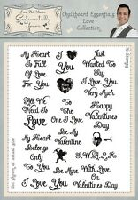 Phill Martin Chalkboard Essentials LOVE COLLECTION A5 Clear Stamp Set
