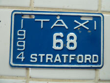 1994 Stratford TAXI License Plate #68