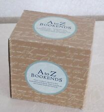 Classic Iron Book Ends - A to Z Typeface - New in Box