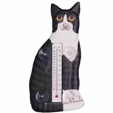 Black White Cat Sitting Large Window Thermometer 31711-93