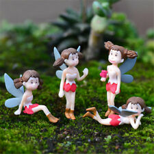 4pcs/lot Fairy Garden Figurines Flying girl Resin Crafts Moss Terrarium Decor FE
