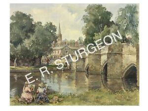 Bakewell, Derbyshire Signed Limited Edition Watercolour Art Print, by Sturgeon