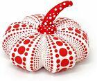 Yayoi Kusama Soft Sculpture Pumpkin Plush cushion S size White and Red
