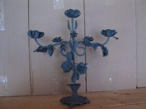 Metall Kerzenleuchter Kerzenständer Leuchter Kandelaber 33 cm hoch , 33 cm breit
