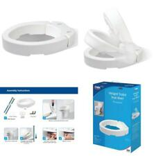 Carex Hinged Toilet Seat Riser For Elongated Toilet Easy Cleaning & Installation