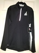 NFL Nike Super Bowl XLVIII Football 1/4-Zip Pullover M Black NWT $85. Seahawks