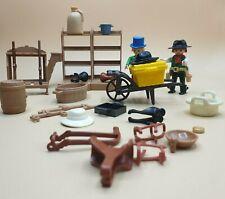 Playmobil -  Drug Store Einrichtung / Regale / Ware / Verkäufer & Cowboy Western