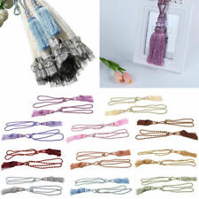 1Pair Curtain Tiebacks Drapery Holder Tassel Rope Tie Backs Window Home Decor