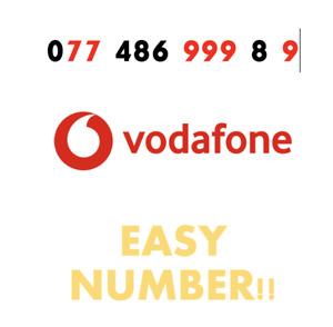 Vodafone Sim Card Easy Mobile Number GOLD VIP Fancy '0774 86 999 89' EASY NUMBER
