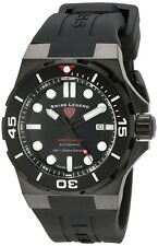 Swiss Legend Abyssos 2.0 Automatic Swiss Made Men's Diver Watch All Black NEW