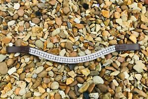 CLEAR CRYSTAL 5 ROW BROWBAND BLING DIAMANTÉ DRESSAGE FULL COB PONY BROWN LEATHER