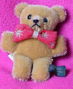 Hermann Mohair Pin Bear Christmas 1994