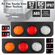 2x 57 LED Car Truck Trailer Rear Tail Reverse Light Turn Stop Indicator Lamp