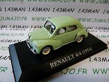 Voiture 1/43 IXO altaya voitures d'antan : RENAULT 4/4 4CV 1954 Espagne