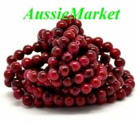50 x glass beads red black 8mm ladies girls jewellery jewelry making parts loose