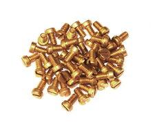"50 Meccano Part 37b Cheesehead Bolt  ¼"" (6mm) Brass"