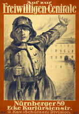 More details for wa50 vintage wwi german military recruitment war poster print ww1 a1 a2 a3