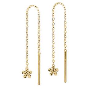 Paar Durchzieher Gelbgold 333 8 Karat Gold Ohrringe Damen Ohrhänger Ohrschmuck