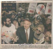 John Sweeney Autographed Newspaper Article Former President of AFL-CIO
