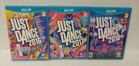 Nintendo Wii U 3 Game Lot Just Dance 2016 2017 2018 - 1 to 4 players can play