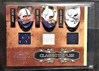 JOHNNY UNITAS HOF 2007 Classic TRIPLES CT-8 w/ Lenny Moore, Raymond Berry COLTS