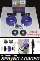 POWERFLEX Front Strut Top Mounts -10mm + FREE BEARINGS for SEAT LEON Mk1 1999-05