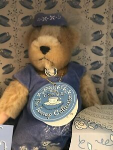 """1999 Muffy VanderBear Club Exclusive """"Spot of Tea"""" Cup Collection Mohair NABCO"""
